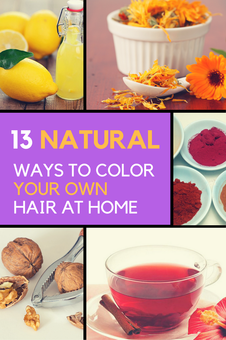 Homemade Natural Diy Hair Dye